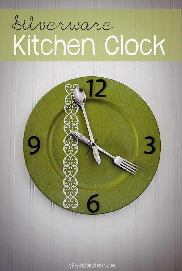 DIY Silverware Kitchen Clock – The Benson Street