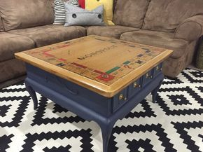 DIY TUTORIAL: Monopoly Table – game room- make your own game table- Monopoly T…