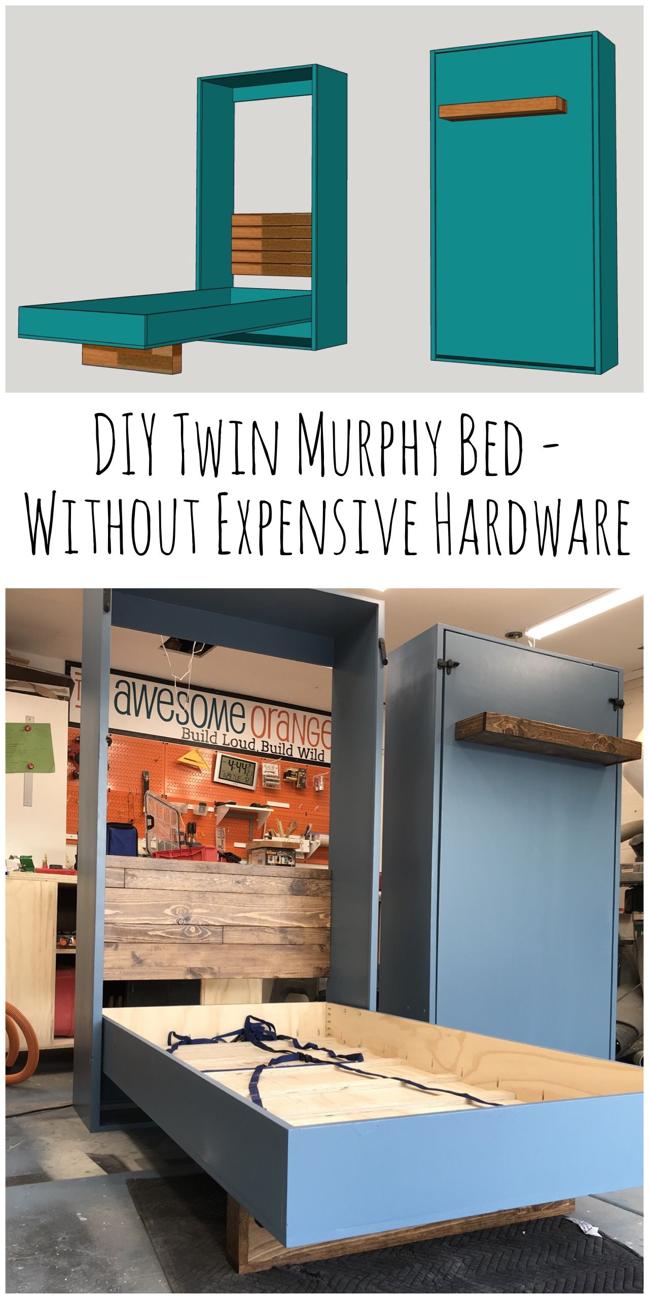 DIY Twin Murphy Beds – Without Expensive Hardware — the Awesome Orange