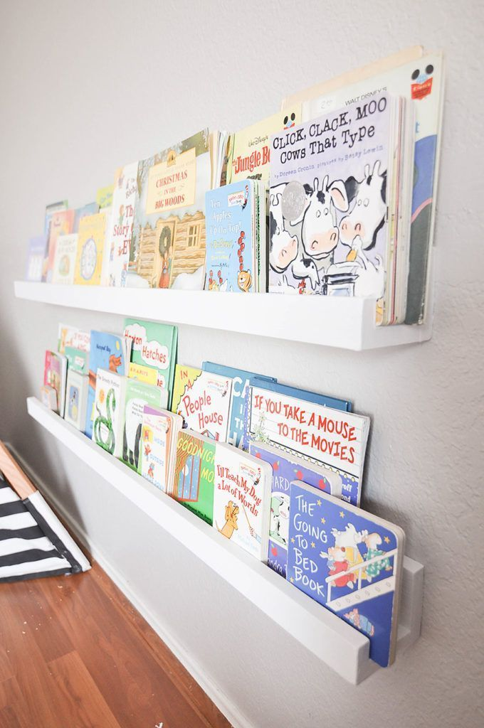 DIY Wall Mounted Kid's Bookshelves – Our Handcrafted Life