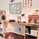 DIY Wood Desk • My Eclectic Grace