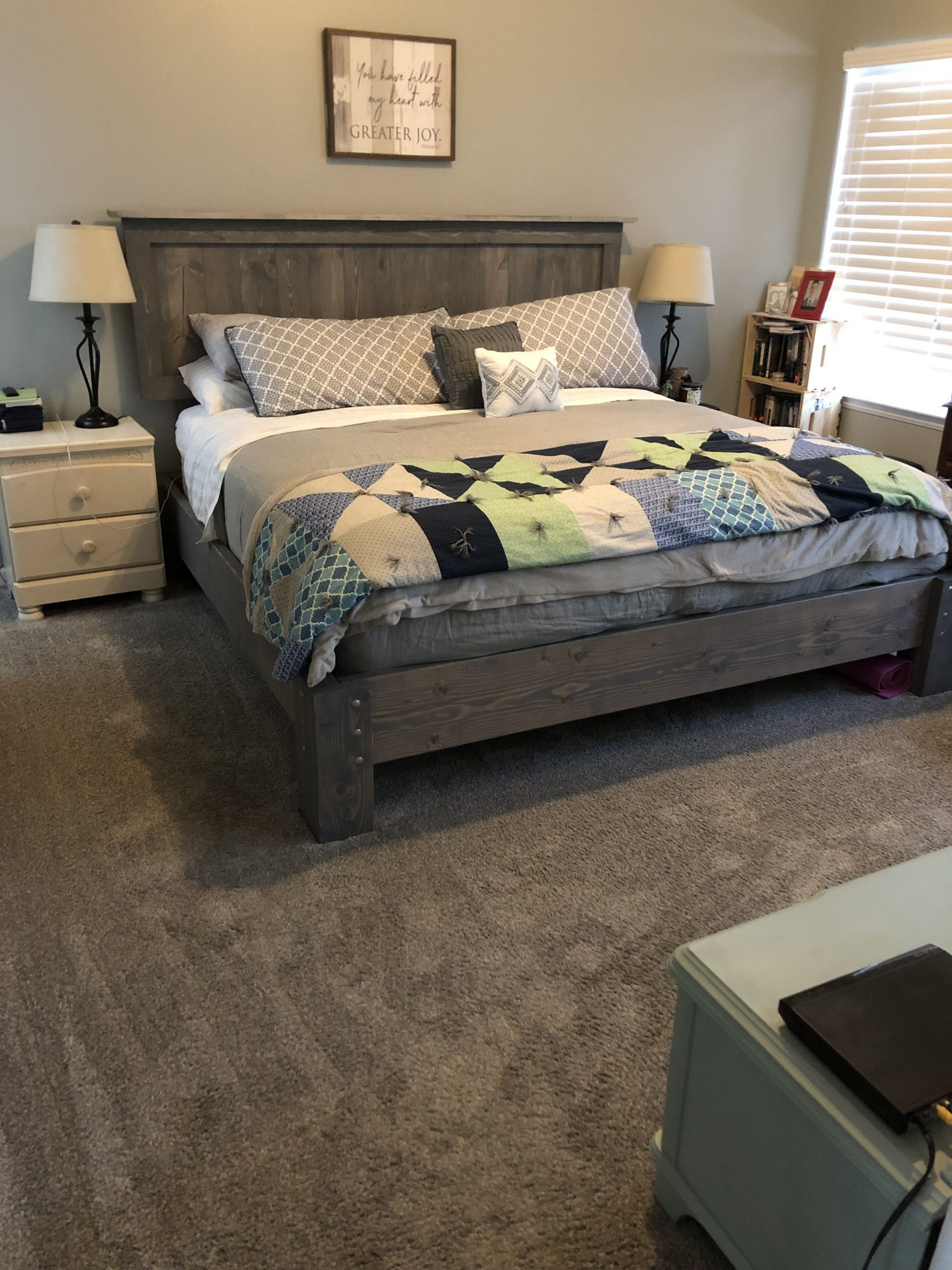 DIY king bed frame and headboard