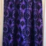 Damask curtains damask curtain panels gothic curtains victorian curtains purple black