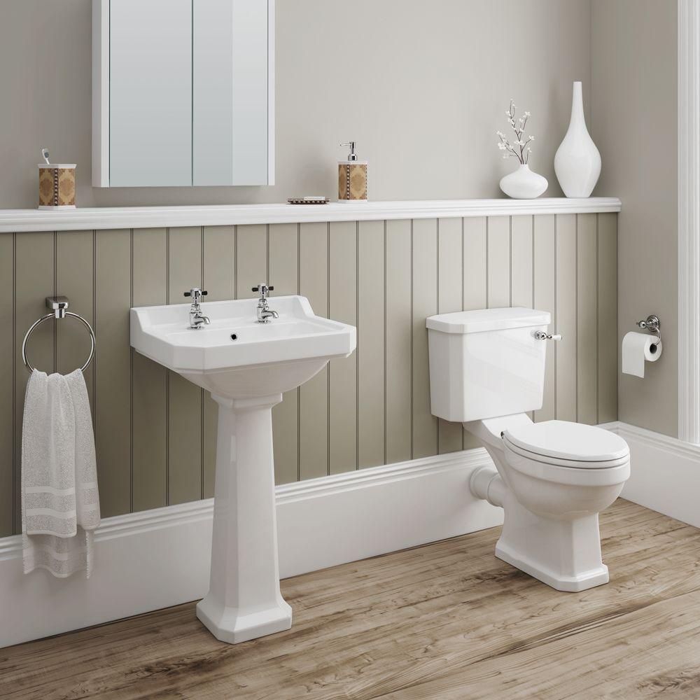 Darwin 4 Piece Traditional Bathroom Suite   Victorian Plumbing.co.uk