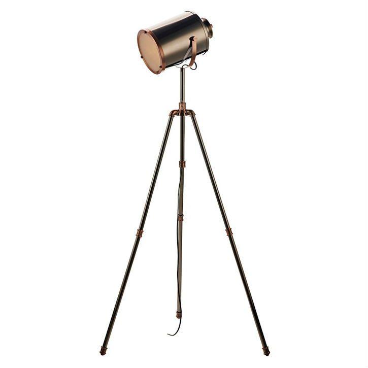 Debenhams – Jake Nickel and Copper Tripod Floor Lamp (H163 x W71cm)