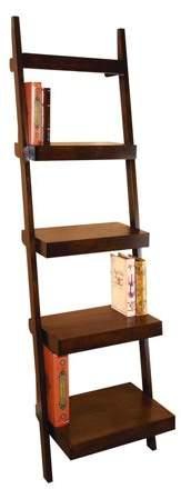 Decmode Farmhouse 69 Inch Wooden Five-Tier Ladder Shelf, Chesnut Brown – Walmart.com
