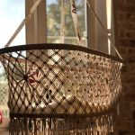 Decorative Woven Hanging Baby Cradle Basket