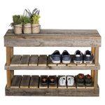 Del Hutson Reclaimed Wood Shoe Bench - Walmart.com