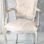 Delicate Pink #French chair with grey wash finish.  Perfect for a ladies closet....