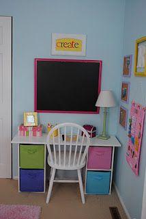 Desks in kids bedrooms