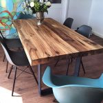 Dining table solid wood table made of old oak wood www.holzwerk-hamb …