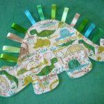 Dinosaur comforter - dinosaur baby gift - soft toy - lovey blanket - baby comforter - unisex gift - baby shower gift - unique baby gift