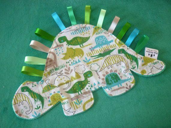 Dinosaur comforter – dinosaur baby gift – soft toy – lovey blanket – baby comforter – unisex gift – baby shower gift – unique baby gift