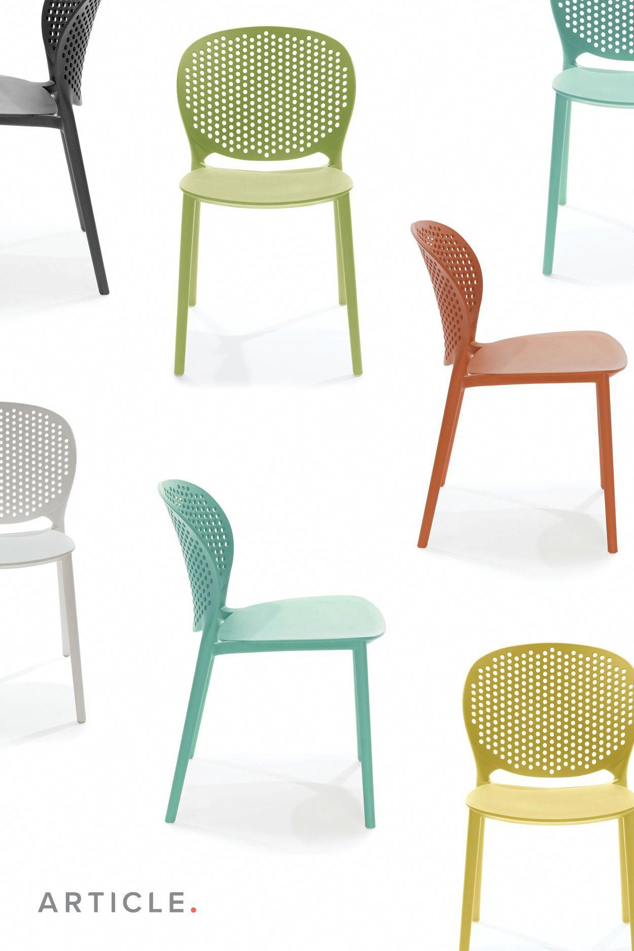 Dot White Dining Chair