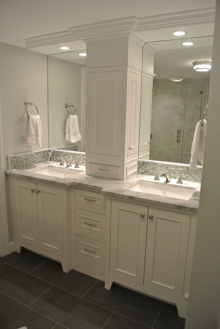 Double Vanity Storage Tower Love The Doors On The Sides. Since it's state that f…