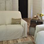 Drop Cloth Covered Couch Cover - Rocky Hedge Farm