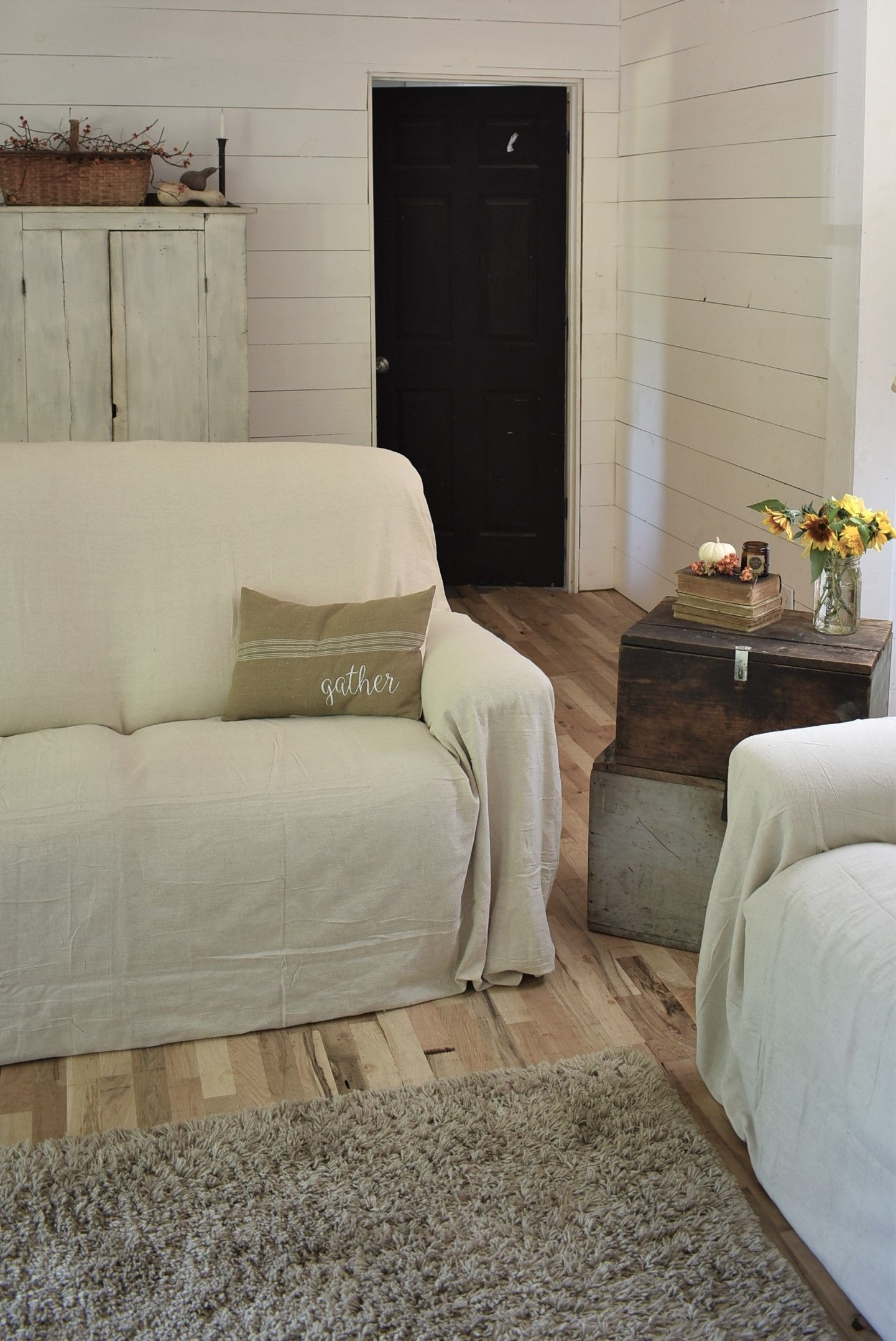 Drop Cloth Covered Couch Cover – Rocky Hedge Farm