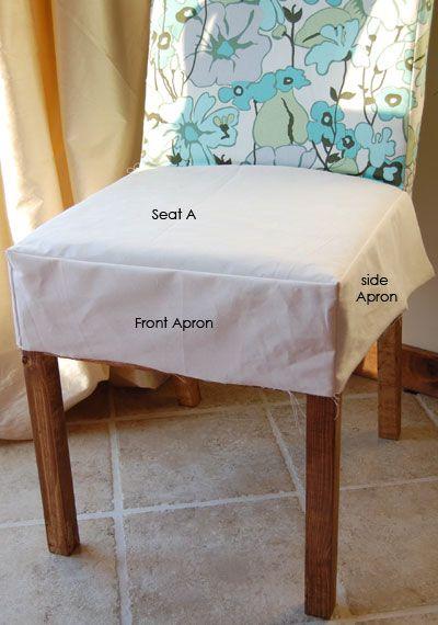 Drop Cloth Parson Chair Slipcovers | Ana White