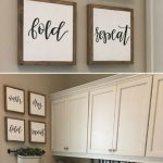 Dry wash the signs of repetition of folds | Laundry sign | Rustic home decor | Cloakroom sign...