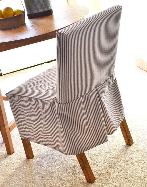 Easiest Parson Chair Slipcovers | Ana White