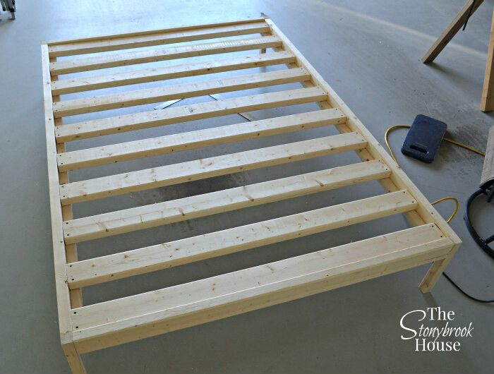 Easy Bed Frame for Under $40!