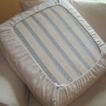Easy DIY Drawstring Seat Cushion Cover - KOVI