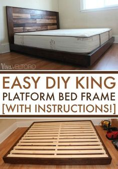 Easy DIY Platform Bed (with Instructions!)