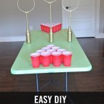 Easy DIY Quidditch Game.  Table Quidditch can be played as Quidditch Beer pong o...