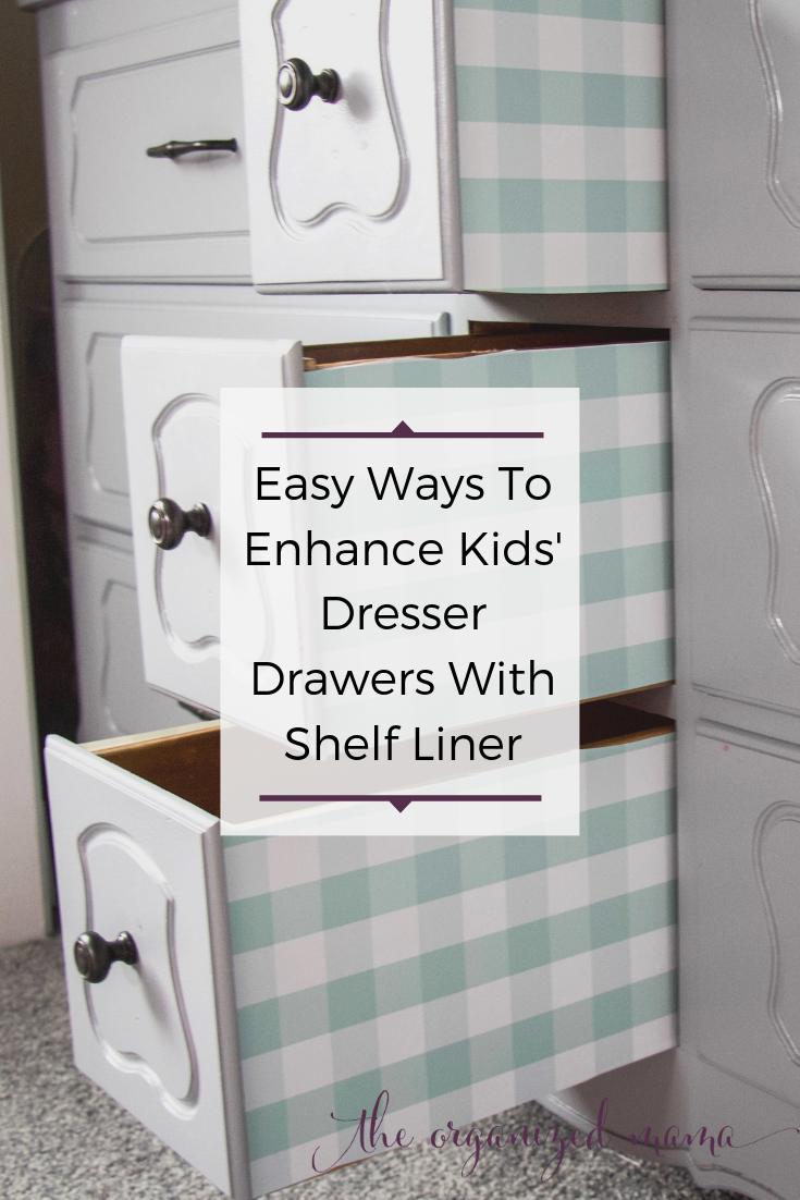 Easy Tutorial To Enhance Kids' Dressers Using Shelf Liner