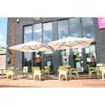 Ebern Designs Christo 8' Square Cantilever Umbrella   Wayfair