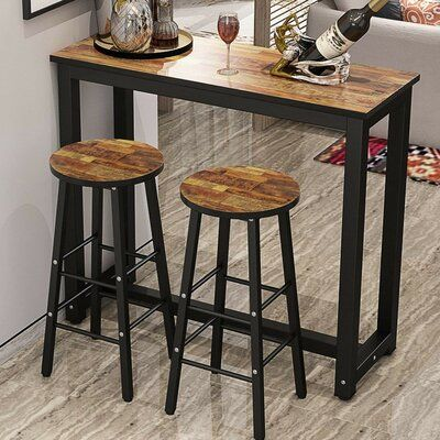 Ebern Designs Plainfield 3 Piece Pub Table Set | Wayfair