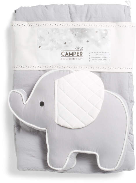 Elephant Baby Comforter Set – Blankets & Throws – T.J.Maxx