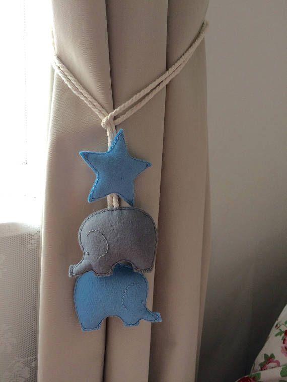 Elephant curtain ties nursery curtain tie-backs nursery – Home Decoration