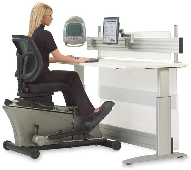 Elliptical Machine Adjustable-Height Desk