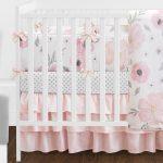 Ensemble de literie pour lit de bébé aquarelle à fleurs de 9 pièces - worldefashion.com/hem