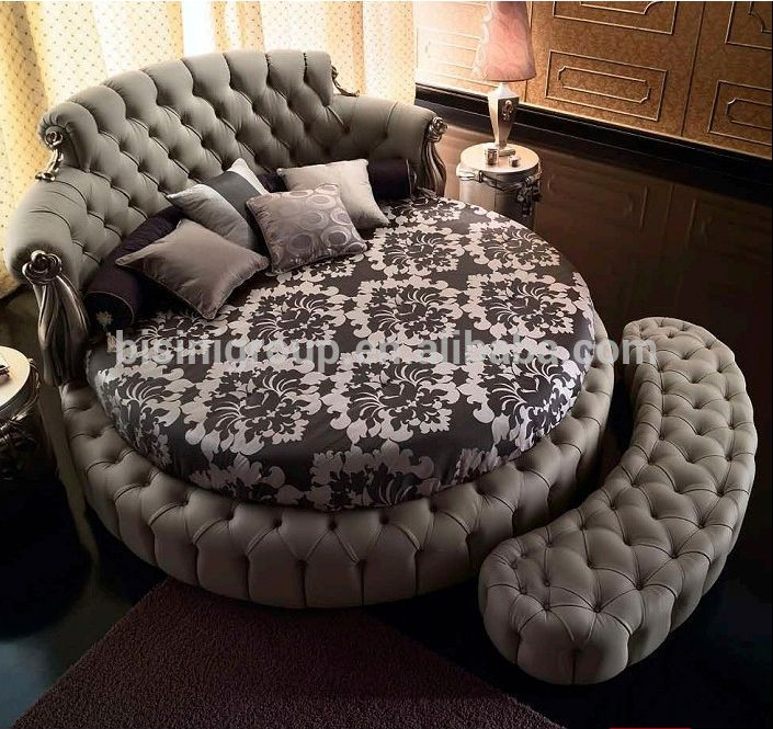 European Styled King Size Round Bed, Bisini Luxurious Wedding Bedroom Furniture …