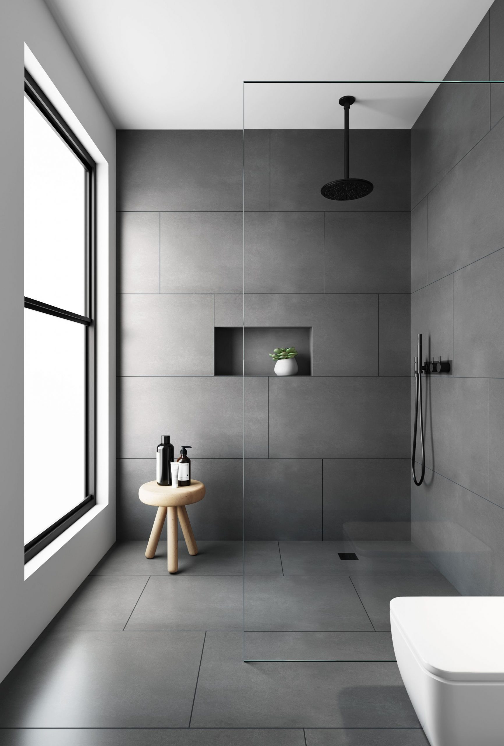 Evolution Matt Natural Grey Floor Tiles