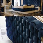 Exclusive Italian Bed With Large Luxury Hand Woven Headboard