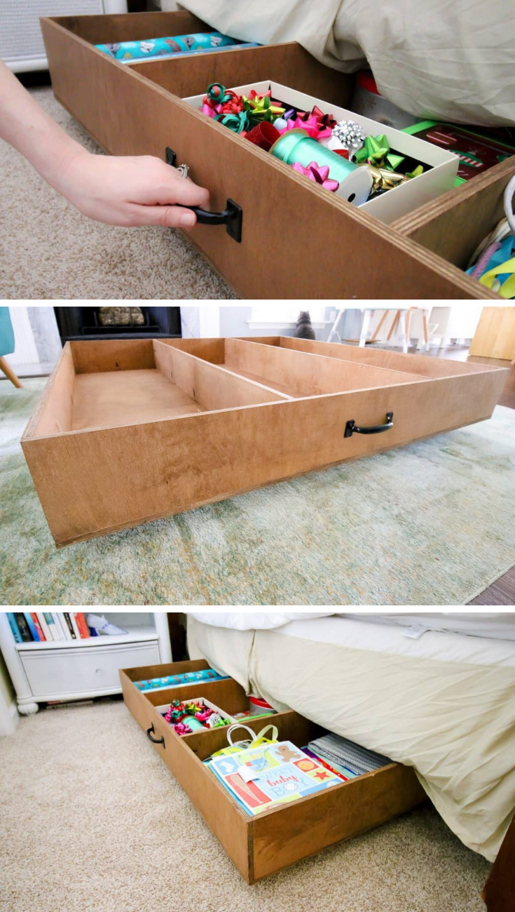 FREE PROJECT PLAN: Under Bed Rolling Storage