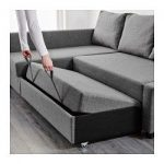 FRIHETEN Sleeper sectional,3 seat w/storage - Skiftebo dark gray - IKEA