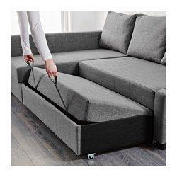 FRIHETEN Sleeper sectional,3 seat w/storage – Skiftebo dark gray – IKEA