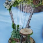 Fairy garden diy - ~ MINIATURE IDEAS ~ Woodland Harp  Harp Ideas Miniature woodland