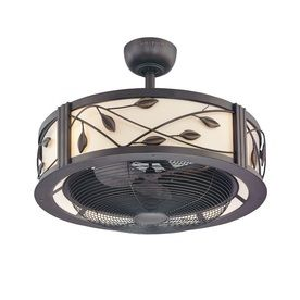 Fanimation Studio Collection Eastview 23-in Dark bronze Indoor Downrod Mount Ceiling Fan with Light Kit and Remote (3-Blade) at Lowes.com