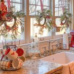 "Farmhouse Charm 🏡 on Instagram: ""It's beginning to look a lot like Christmas in this adorable country kitchen! 😍 How early do you start decorating for the holidays? TAG a…"""