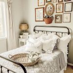 Farmhouse Cottage Bedroom home decor inspo with ruffle pillows and shabby decor ...