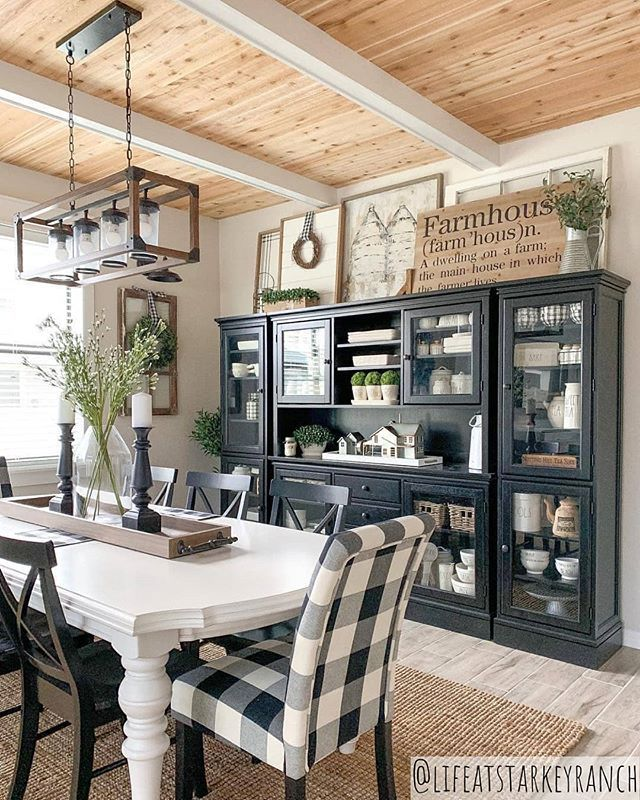 """Farmhouse Fanatics on Instagram: """"This dining room is FARMHOUSE GOALS! 🙌 What do you think of this beautiful decor style? 😍 Your favorite part? ❤ TAG a friend who will LOVE…"""""""