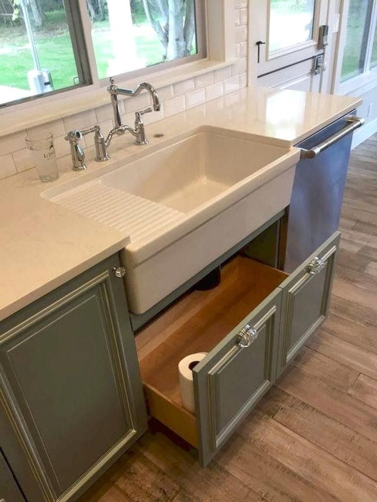 Farmhouse Kitchen Sink Decor Ideas 36
