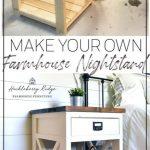 Farmhouse Nightstand / Beistelltisch - #Farmhouse #night #NightstandSide #table #WoodWorking