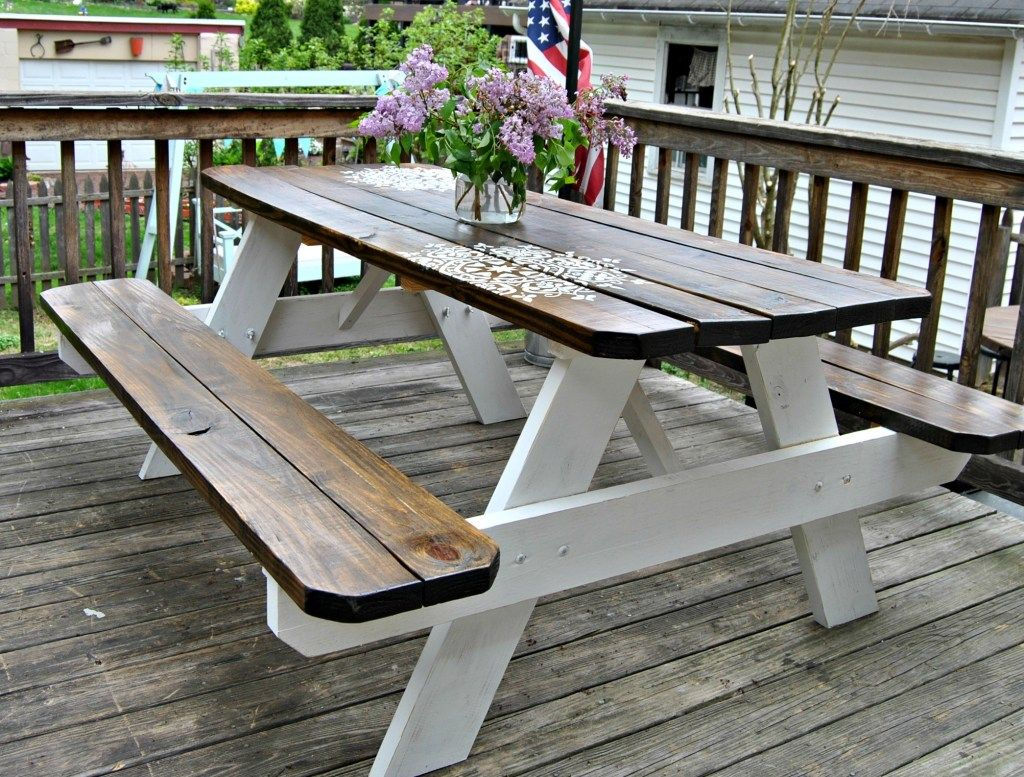 Farmhouse Picnic Table – The Painted Home by Denise Sabia