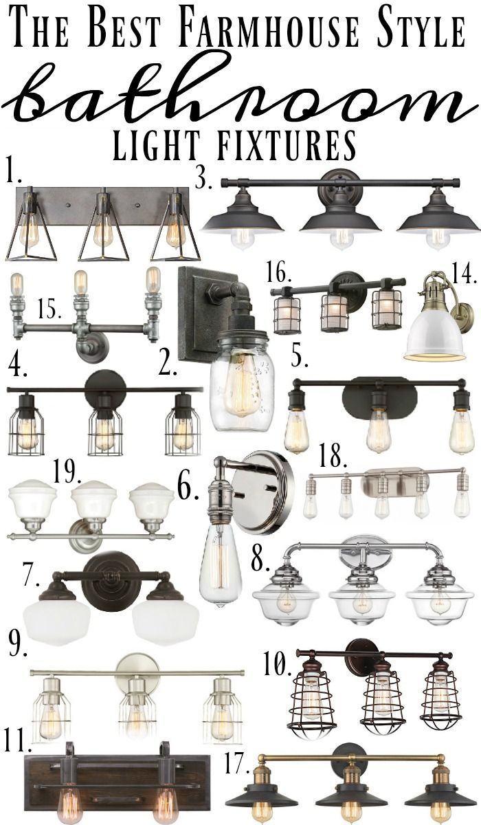 Farmhouse Style Bathroom Light Fixtures – pickndecor.com/design